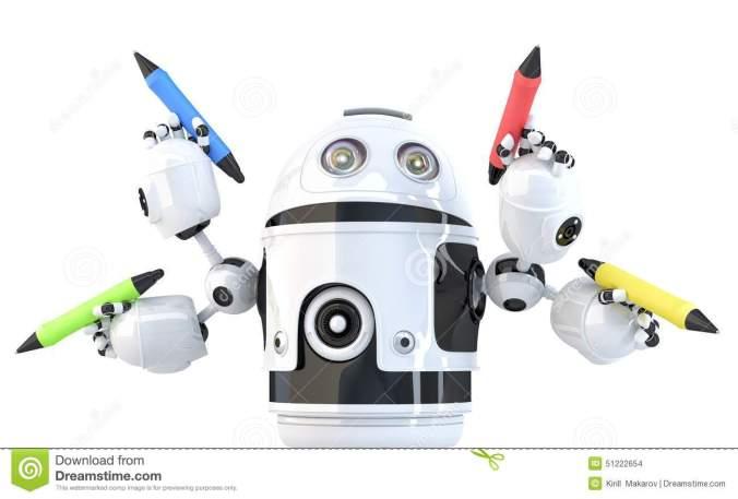 robot-quatre-arm-avec-des-crayons-concept-multitche-contient-le-chemin-de-coupure-51222654